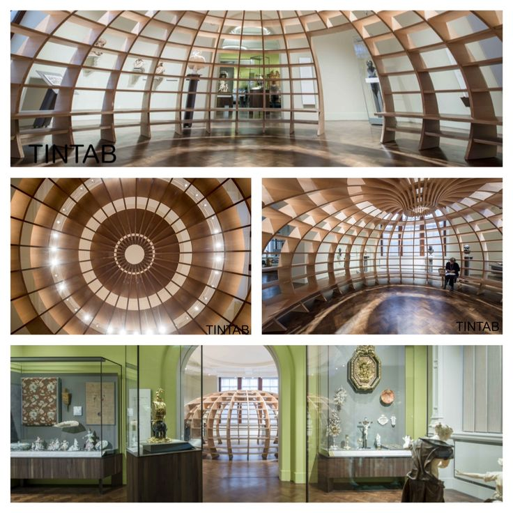 TinTab recently made this curved architectural sculpture using a lattice of engineered solid Beech multiply that forms a room within a room; TinTab were commissioned directly by the V&A to fabricate and engineer this bespoke joinery project on behalf of the artist collective 'Los Carpinteros'. #TinTab #TheGlobe #VandA #London #Bespoke #Design