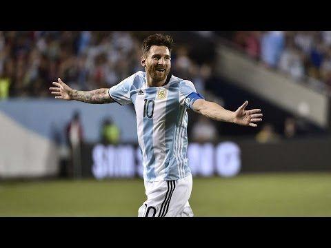 Lionel Messi Goals Hat trick Argentina vs Panama 5 0 Copa America Centen...