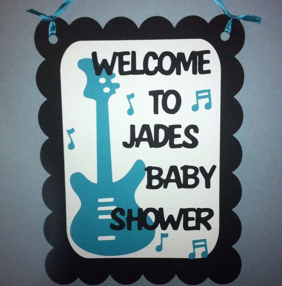 Rock n roll theme Personalized Baby Shower by LittleMissStarchick