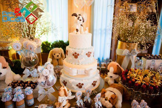 Aniversário com tema cachorro - Blog O Sapo e a Princesa