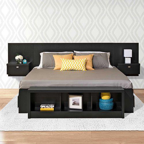 Bedroom Furniture | Bedroom Furniture | Prepac Manufacturing Series 9  Designer Floating King Headboard With Nightstands