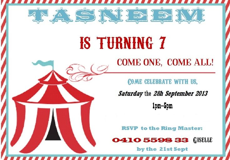 Circus Carnival Theme Kids Party