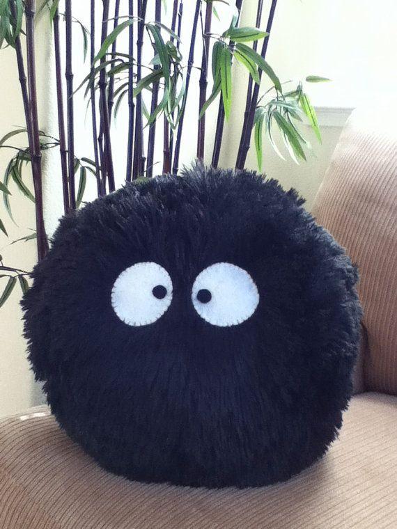 My Neighbor Totoro Dust Bunny Plush Pillow. $25.00, via Etsy.