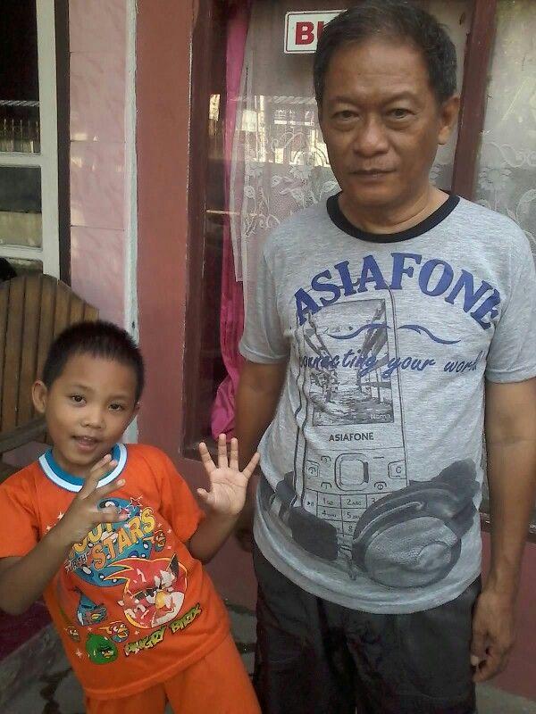 Me and little Rizky di Miangas Palu, Sulawesi Tengah