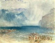 The First Steamer on the Lake of Lucerne in 1841  by Joseph Mallord William Turner