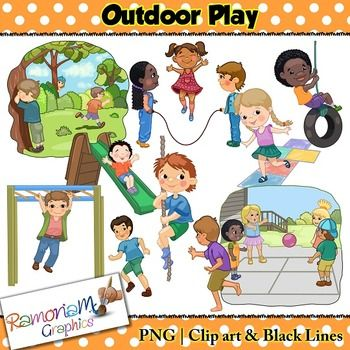 Kids Outdoor Play and games Clip art | Playground games ...