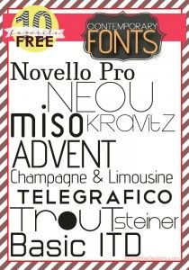 free FONT friday | free Contemporary fonts  ~~ {10 free fonts w/ links} ~~