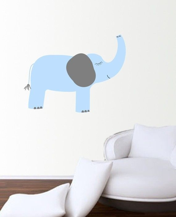 New Elephant Vinyl Wall Decal Design by XpressionsThatStick, $35.00
