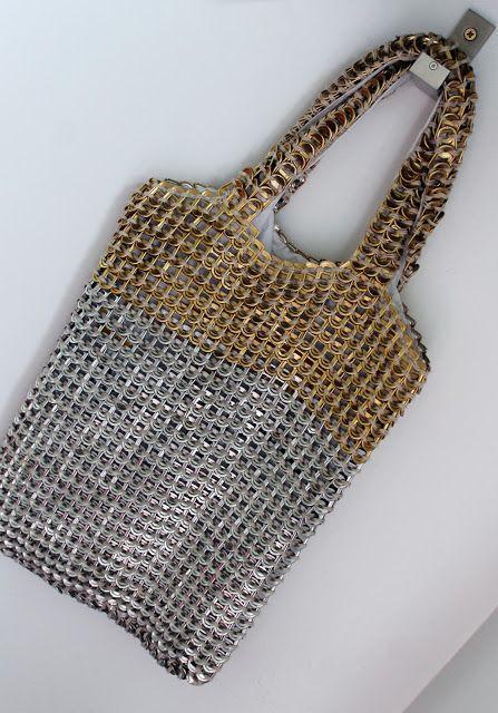 Pull tab shopping bag.