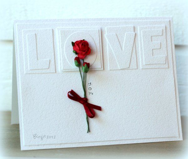 CAS171 Rose by Biggan - Cards and Paper Crafts at Splitcoaststampers: Lovecard Weddingcard, Rose Flowers, Crafts Pap, Love Cards, Rose Lov Cards, Cards Valentines, Quilled Rose, Valentines Cards, Paper Crafts