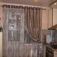 Дизайн штор для кухни. 62 идеи с фото