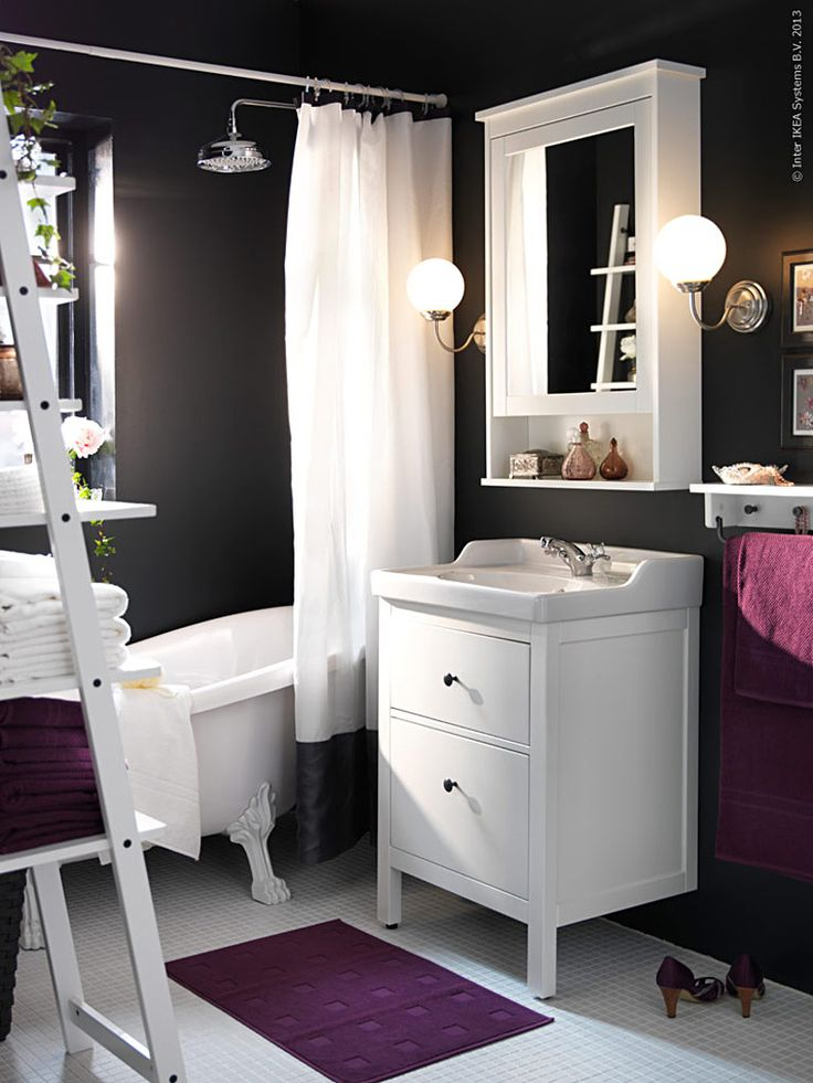 Small Bathroom Storage HEMNES/RÄTTVIKEN Sink Cabinet With 2 Drawers IKEA  You Can Easily Change The Size Of The Box By Moving The Divider.