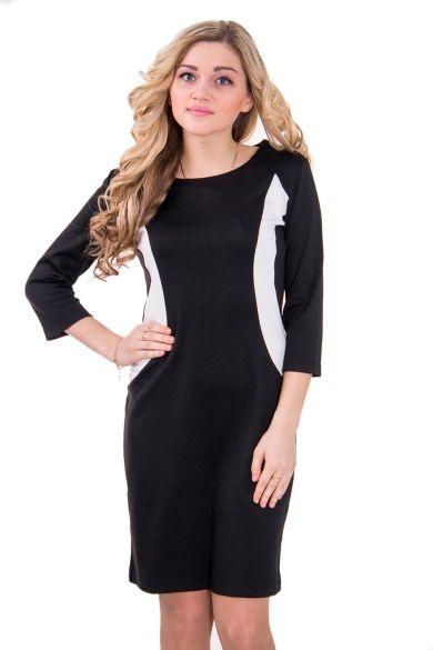Женское платье с круглой горловиной и ру... Стильная одежда для женщин. Аксессуары для женщин.