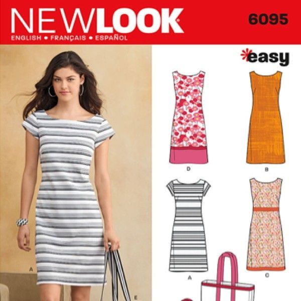 New Look 6095 - Easy Sew Fitted Shift Dress