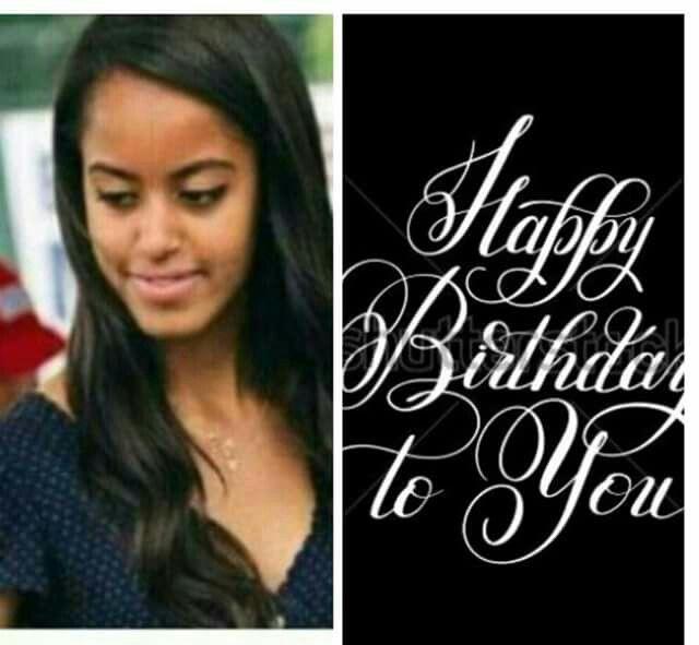 Happy Birthday Malia...