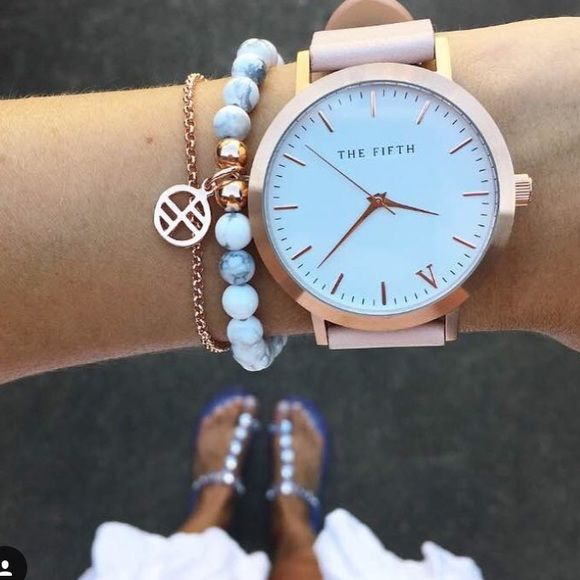 The Fifth Brand Watch Rose gold and pink watch from the brand The Fifth, an Australian company. Only listed on Lulus for exposure. Lulu's Accessories Watches