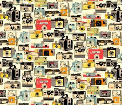 Imprimolandia: Estampados de cámaras fotográficas Vintage camera pattern