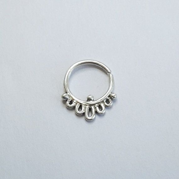 Small septum ring Indian body jewelry cute by CatsCuriosityShop