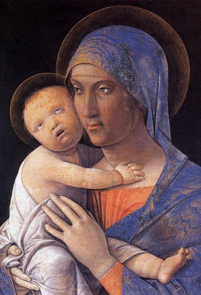 Andrea Mantegna (1431-1506), c. 1480, Madonna and Child, Accademia Carrara, Bergamo.