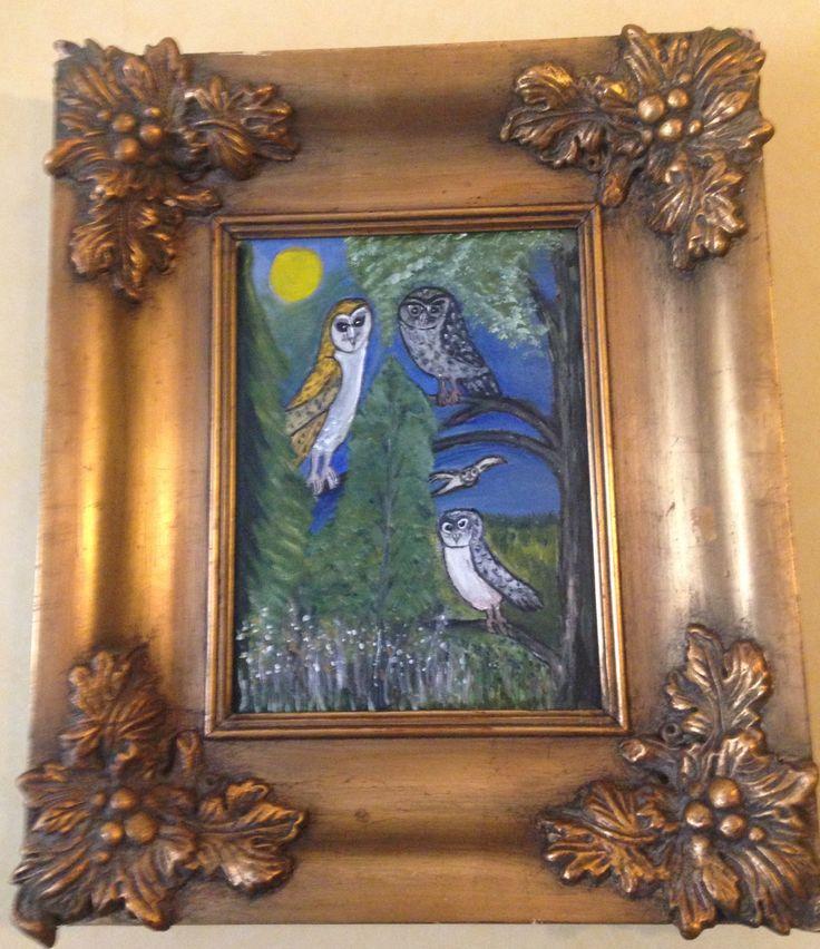 Siskon maalaama pöllötaulu