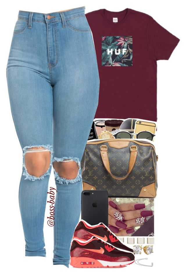 """READ DESCRIPTION"" by boss-baby ❤ liked on Polyvore featuring Été Swim, Luv Aj, NIKE and French Connection"