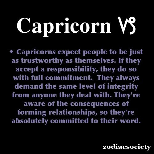 Capricorn and integrity