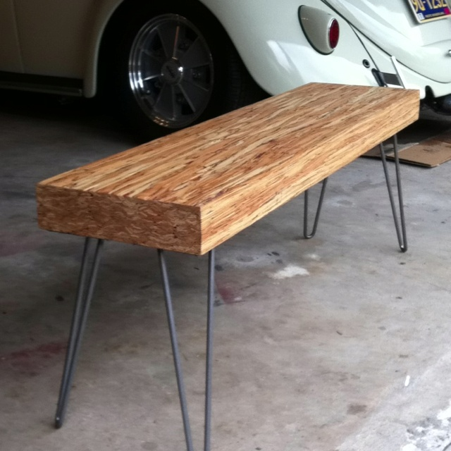 12 Quot Glulam Bench On 14 Quot Steel Hairpin Legs Diy