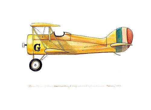ThomasMorse S4 Scout avión vintage acuarela por FlightsByNumber, $20.00