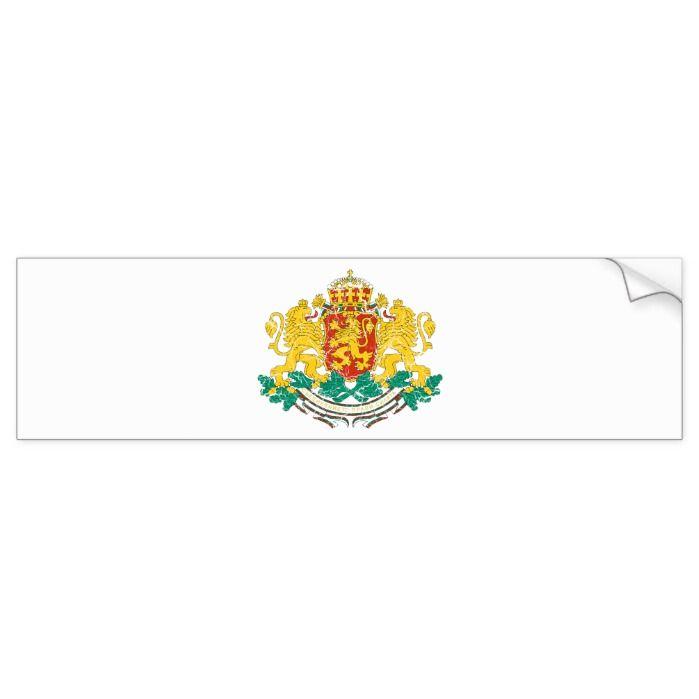 Bulgaria Coat Of Arms Bumper Sticker Zazzle Com In 2021 Bumper Stickers Coat Of Arms Stickers
