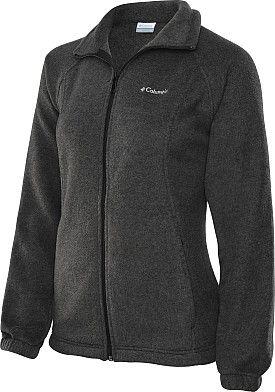 COLUMBIA Women's Benton Springs Full-Zip Fleece Jacket - SportsAuthority.com in Charcoal Grey