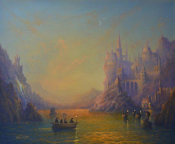 Hogwarts Castle Print By Joe Gilronan
