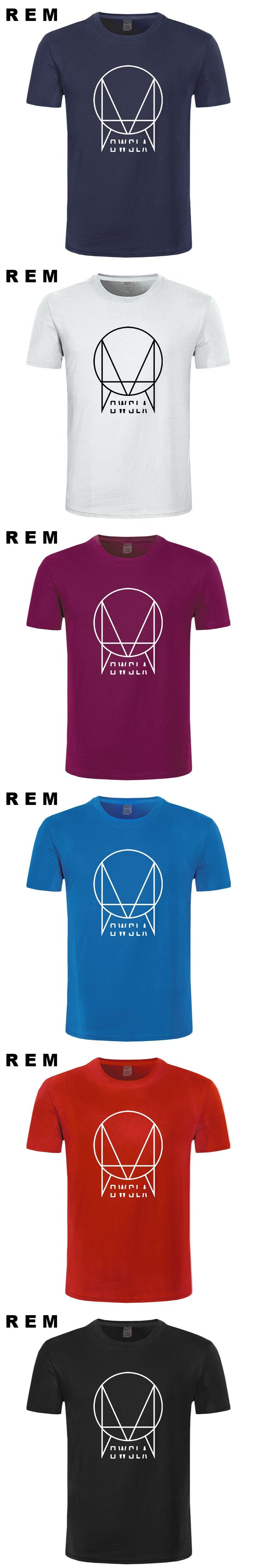 OWSLA Logo T Shirt Men Fashion DJ Skrillex T Shirts Short Sleeve Cotton Men Hip Hop T-shirt Tops Tee Free Shipping