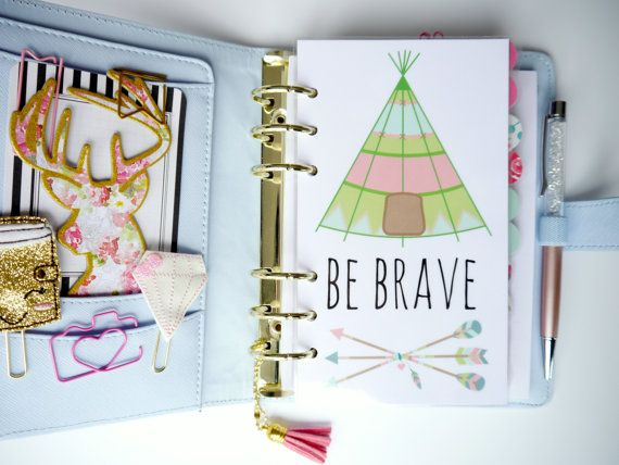 Be Brave Personal & A5 Planner Dashboards