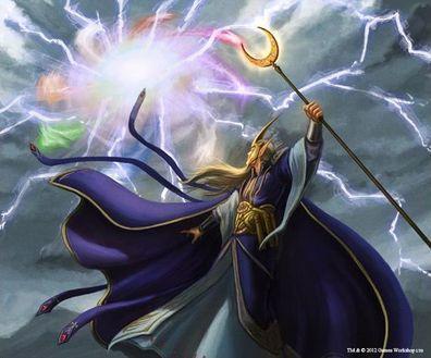 Gathering the Winds by Adam Lane Mago Alto Elfo Alta Magia