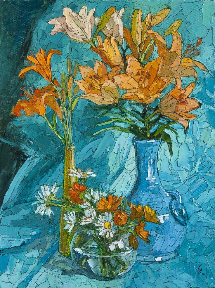 Натюрморт с лилиями