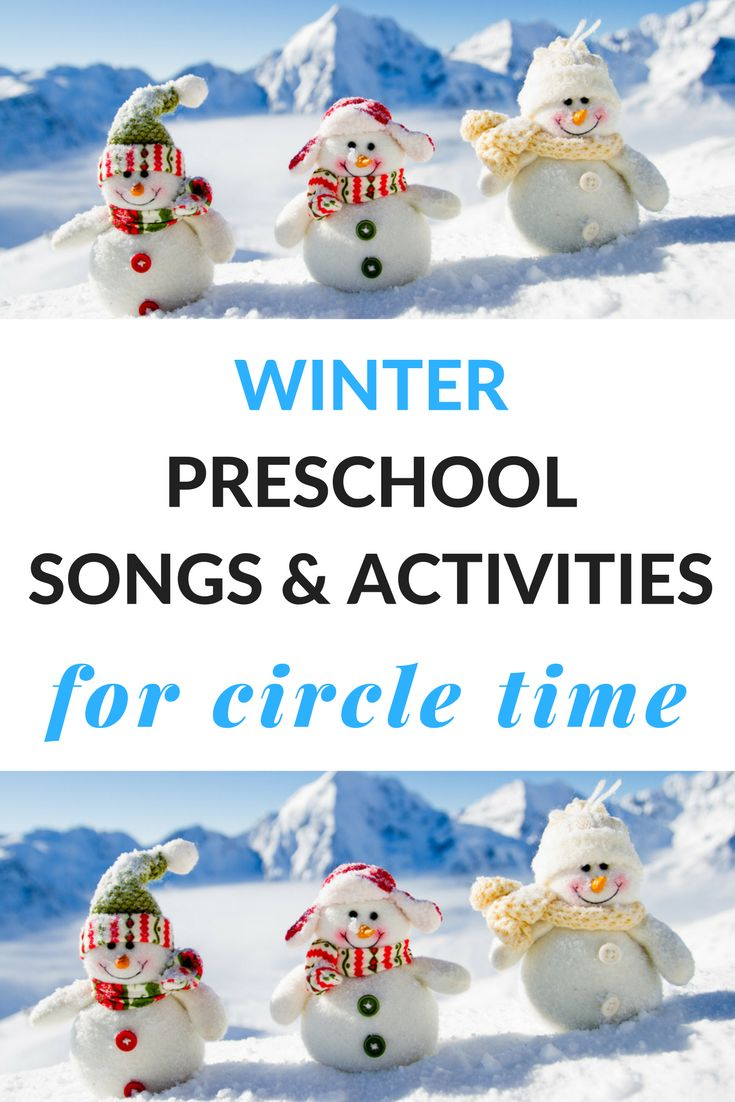 Try these winter preschool songs and activities to build literacy skills during circle time. Free printables are included to make circle time a success.