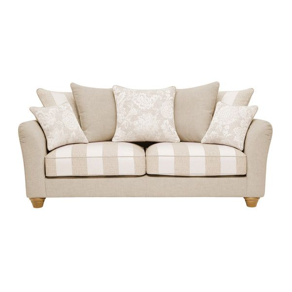 Natural Fabric Sofas 3 Seater Sofa Regency Range Oak Furnitureland Oak Furniture Land 3 Seater Sofa Leather Furniture