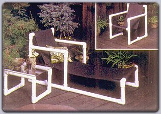 Free PVC Pipe Projects   PVC Lawn Furniture (Plan No. 649) - Outdoor Plans, Projects and ...