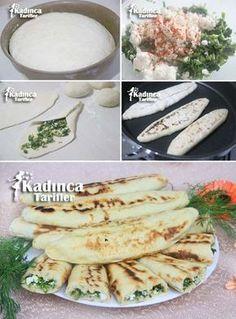 Tavada Pişirilen Ispanaklı Pide Tarifi