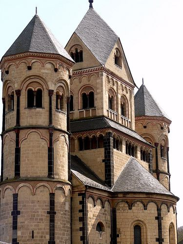 Church of Maria Laach -The church is considered an important example of German Romanesque architecture - Glees,  Rhineland-Palatinate - Germany