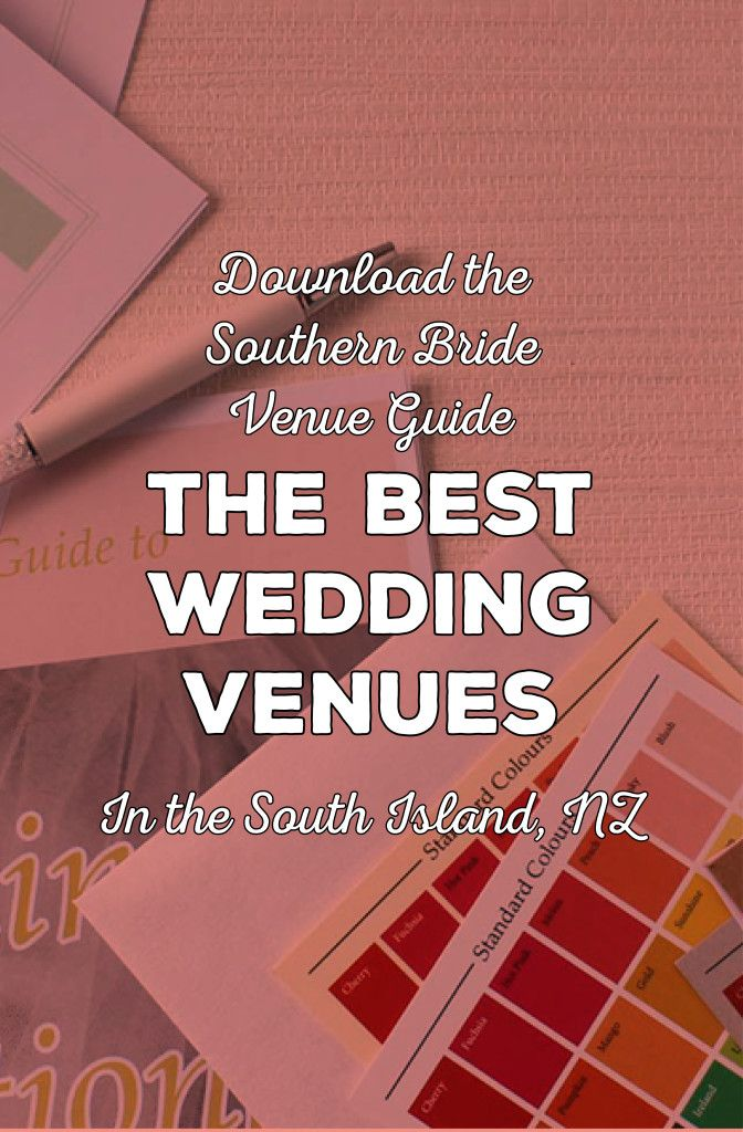 List of 160 wedding venue ideas (both for wedding ceremony and wedding reception) in the South Island, New Zealand  via http://www.bemyguest.co.nz/the-southern-bride-venue-guide/