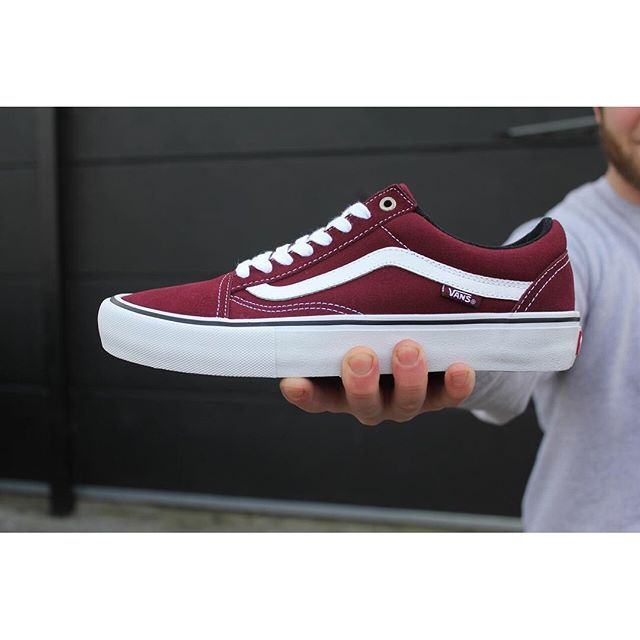 bordeaux rode vans old skool