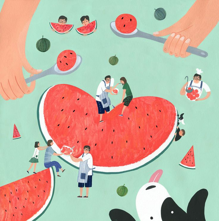 love watermelon! | Jimin Yoon
