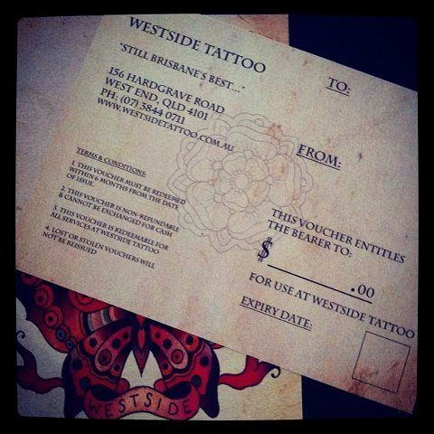 Westside Tattoo voucher