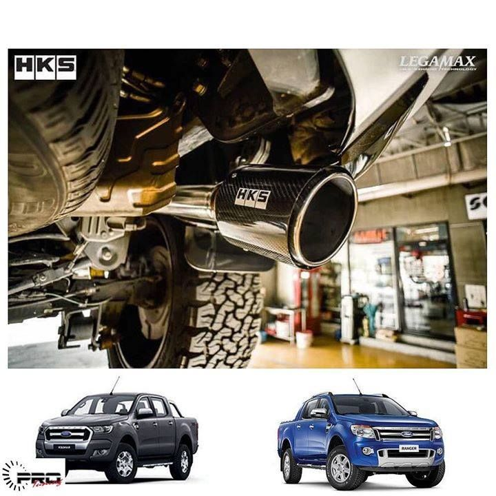 hks carbon exhaust for ford ranger