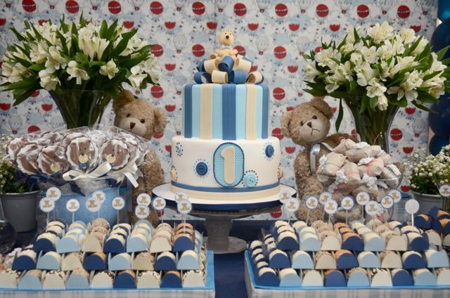 Boy 1st Birthday Party Themes - Maria likes something ornate like this - done in the same colors as his birthday theme.