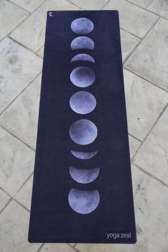 Moon Phases Yoga Mat / Christmas Gift for Her / Gift Idea /Moon Phases/Moon Stages/Moon Mat/Yoga Mats/Hot Yoga Mat