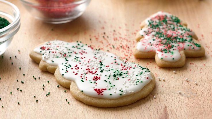 Basic Iced Holiday Sugar Cookies