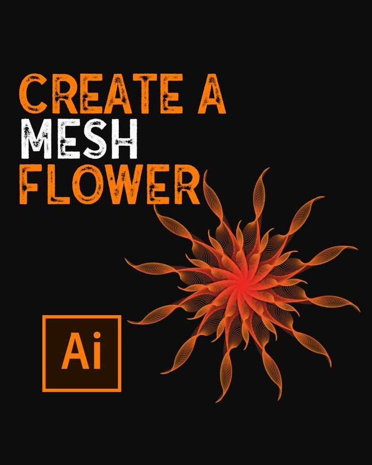 How to create a mesh flower in illustrator video in 2021
