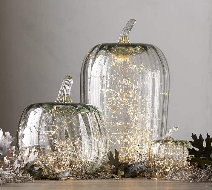 Pottery Barn Recycled Glass Pumpkin Cloche Prices Vary With